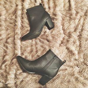 Black Pointy Toe Booties